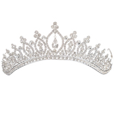 Rhinestone Tiara with Comb