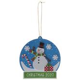 Snowman Snow Globe Ornaments Foam Craft Kit