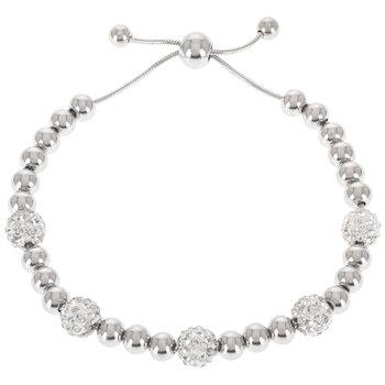Rhinestone Beaded Slider Bracelet