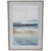 Blue Watercolor Abstract Framed Wall Decor