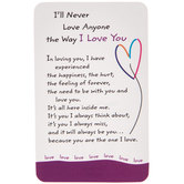 I Love You Wallet Card