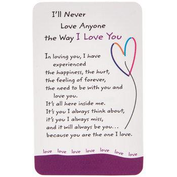 I Love You Wallet Card Hobby Lobby 1328228