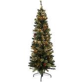 Ultra Slim Bristol Cashmere Pre-Lit Christmas Tree - 5'
