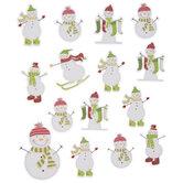 Snowman Glitter Stickers