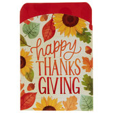 Happy Thanksgiving Sleeve Silverware Holders