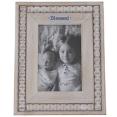 "Blessed Beaded Wood Frame - 4"" x 6"""