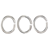 Sterling Silver Plated Oval Jump Rings - 5.5mm x 6.5mm