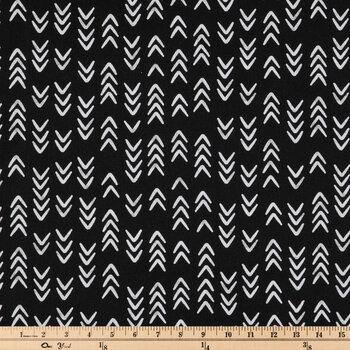Black & White Geometric Duck Cloth Fabric