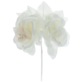 Satin Rose Pick With Leaves