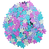 Assorted Metallic Flower Sequins