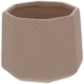 Pink Textured Octagon Pot