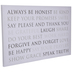 Always Be Honest Canvas Wall Decor