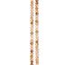 Topaz & Brown Gemcut Glass Bead Strand