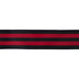Black & Red Striped Wired Edge Grosgrain Ribbon - 2