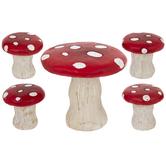 Mushroom Table & Stools