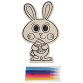 Bunny Holding Egg Wood Craft Kit