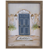 Hello Blue Door Wood Wall Decor