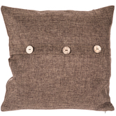 Dark Brown Pillow Cover With Buttons