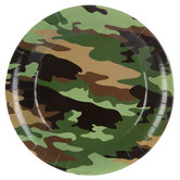 Camouflage Paper Plates - Large