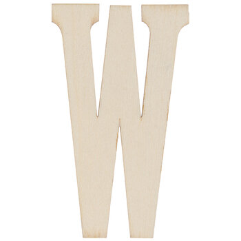 "Vintage Sign Wood Letters W - 4"""