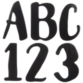 Black Chipboard Alphabet Stickers