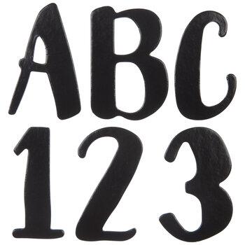 Black Chipboard Alphabet Stickers