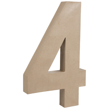 """Paper Mache Number 4 - 16"""""""