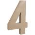 Paper Mache Number 4 - 16