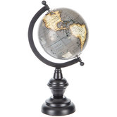 Gray Globe With Black Stand