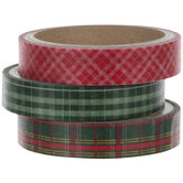 Red & Green Plaid Washi Tape