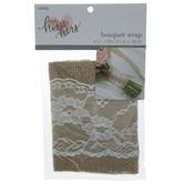 Burlap & Lace Bouquet Wrap
