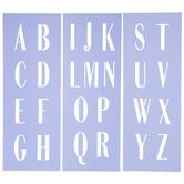 Uppercase Art Deco Alphabet Stencils