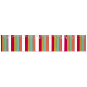 Multi-Color Striped Ruler