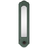 Turquoise Wood Wall Mirror With Knob