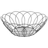 Black Round Wire Metal Bowl