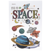 Out Of Space Planets Removable Stickers