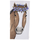 Floral Horse Kitchen Towel