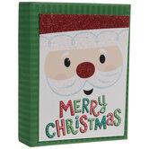 Glitter Santa Claus Christmas Cards