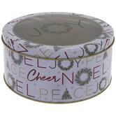 Noel Wreath Round Tin Box