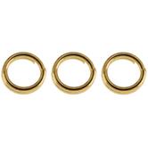 18K Gold Plated Split Rings
