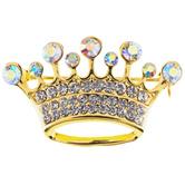 Small Crown Rhinestone Brooch