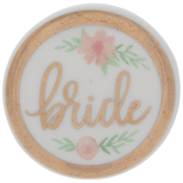 Bride Floral Round Pin