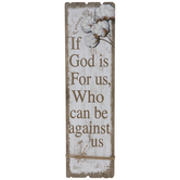 Romans 8:31 Cotton Wood Wall Decor