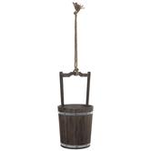 Rustic Wood Bucket