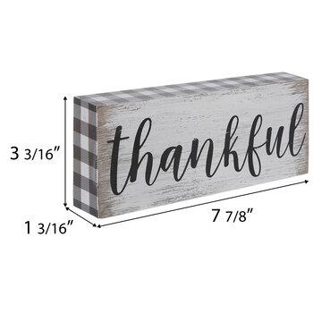 Thankful Buffalo Check Wood Wall Decor