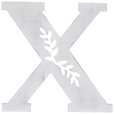 White Vine Letter Wood Wall Decor - X