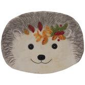 Gray Hedgehog Plate