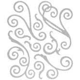 Glitter Flourish Stickers