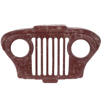 Distressed Red Auto Grill Metal Wall Decor