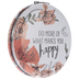 What Makes You Happy Floral Compact Mirror